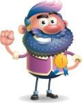 Man with Big Beard Cartoon 3D Vector Character AKA Ernest O'Beard - Ribbon