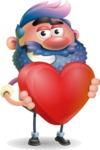 Man with Big Beard Cartoon 3D Vector Character AKA Ernest O'Beard - Love