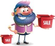 Man with Big Beard Cartoon 3D Vector Character AKA Ernest O'Beard - Sale