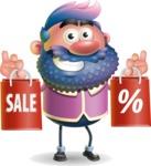 Man with Big Beard Cartoon 3D Vector Character AKA Ernest O'Beard - Sale 2