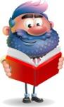 Man with Big Beard Cartoon 3D Vector Character AKA Ernest O'Beard - Book 1