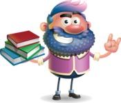 Man with Big Beard Cartoon 3D Vector Character AKA Ernest O'Beard - Book 2