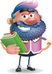 Man with Big Beard Cartoon 3D Vector Character AKA Ernest O'Beard - Book 3
