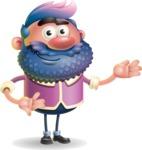 Man with Big Beard Cartoon 3D Vector Character AKA Ernest O'Beard - Showcase