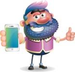 Man with Big Beard Cartoon 3D Vector Character AKA Ernest O'Beard - iPhone