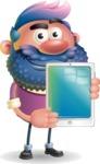 Man with Big Beard Cartoon 3D Vector Character AKA Ernest O'Beard - iPad 1