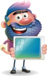 Man with Big Beard Cartoon 3D Vector Character AKA Ernest O'Beard - iPad 2