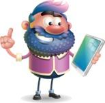 Man with Big Beard Cartoon 3D Vector Character AKA Ernest O'Beard - iPad 3