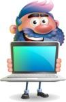 Man with Big Beard Cartoon 3D Vector Character AKA Ernest O'Beard - Laptop 2
