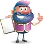 Man with Big Beard Cartoon 3D Vector Character AKA Ernest O'Beard - Notepad 1