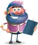 Man with Big Beard Cartoon 3D Vector Character AKA Ernest O'Beard - Notepad 2