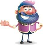 Man with Big Beard Cartoon 3D Vector Character AKA Ernest O'Beard - Showcase 2