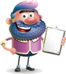 Man with Big Beard Cartoon 3D Vector Character AKA Ernest O'Beard - Notepad 4