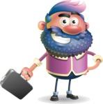 Man with Big Beard Cartoon 3D Vector Character AKA Ernest O'Beard - Briefcase 1