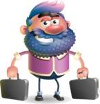 Man with Big Beard Cartoon 3D Vector Character AKA Ernest O'Beard - Briefcase 3