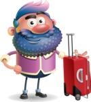 Man with Big Beard Cartoon 3D Vector Character AKA Ernest O'Beard - Travel 1