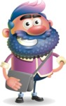 Man with Big Beard Cartoon 3D Vector Character AKA Ernest O'Beard - Travel 2