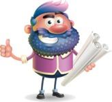 Man with Big Beard Cartoon 3D Vector Character AKA Ernest O'Beard - Plans
