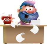 Man with Big Beard Cartoon 3D Vector Character AKA Ernest O'Beard - Banana