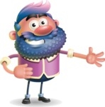 Man with Big Beard Cartoon 3D Vector Character AKA Ernest O'Beard - Show