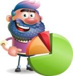 Man with Big Beard Cartoon 3D Vector Character AKA Ernest O'Beard - Chart