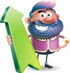 Man with Big Beard Cartoon 3D Vector Character AKA Ernest O'Beard - Pointer 1