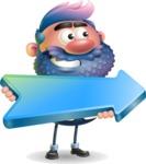 Man with Big Beard Cartoon 3D Vector Character AKA Ernest O'Beard - Pointer 2