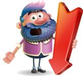 Man with Big Beard Cartoon 3D Vector Character AKA Ernest O'Beard - Pointer 3