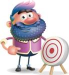 Man with Big Beard Cartoon 3D Vector Character AKA Ernest O'Beard - Target