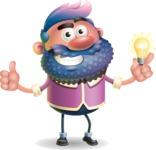 Man with Big Beard Cartoon 3D Vector Character AKA Ernest O'Beard - Idea 1