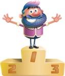 Man with Big Beard Cartoon 3D Vector Character AKA Ernest O'Beard - On Top