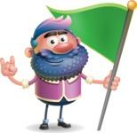 Man with Big Beard Cartoon 3D Vector Character AKA Ernest O'Beard - Checkpoint