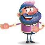 Man with Big Beard Cartoon 3D Vector Character AKA Ernest O'Beard - Show 2