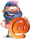 Man with Big Beard Cartoon 3D Vector Character AKA Ernest O'Beard - Email