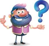 Man with Big Beard Cartoon 3D Vector Character AKA Ernest O'Beard - Question