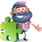 Man with Big Beard Cartoon 3D Vector Character AKA Ernest O'Beard - Puzzle