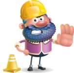 Man with Big Beard Cartoon 3D Vector Character AKA Ernest O'Beard - Under Construction 1