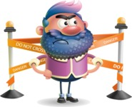 Man with Big Beard Cartoon 3D Vector Character AKA Ernest O'Beard - Under Construction 2