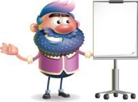 Man with Big Beard Cartoon 3D Vector Character AKA Ernest O'Beard - Presentation 1