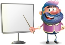 Man with Big Beard Cartoon 3D Vector Character AKA Ernest O'Beard - Presentation 2