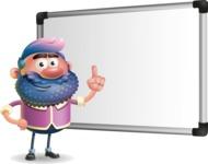 Man with Big Beard Cartoon 3D Vector Character AKA Ernest O'Beard - Presentation 3