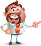 Businessman with Goatee Cartoon 3D Vector Character AKA Jordan - Point 2