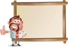 Businessman with Goatee Cartoon 3D Vector Character AKA Jordan - Presentation 5