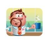 Businessman with Goatee Cartoon 3D Vector Character AKA Jordan - Shape 2