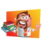 Businessman with Goatee Cartoon 3D Vector Character AKA Jordan - Shape 3