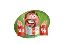 Businessman with Goatee Cartoon 3D Vector Character AKA Jordan - Shape 4
