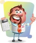 Businessman with Goatee Cartoon 3D Vector Character AKA Jordan - Shape 5