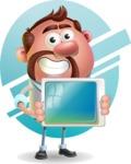 Businessman with Goatee Cartoon 3D Vector Character AKA Jordan - Shape 6