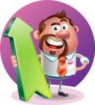 Businessman with Goatee Cartoon 3D Vector Character AKA Jordan - Shape 8