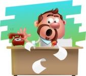Businessman with Goatee Cartoon 3D Vector Character AKA Jordan - Shape 9